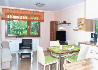 Ferienhaus Igel Wohnung Erdgeschoss Küche Wohnzimmer